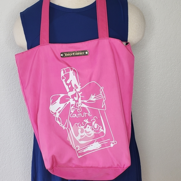 Juicy Couture Pink Stripped Tote Bag